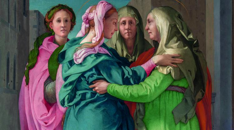 Detail from Pontormo's Visitation