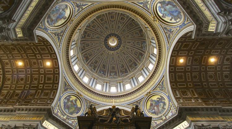 photo of the dome of St. Peter's Basilica