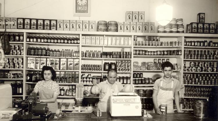 vintage Italian food store photo