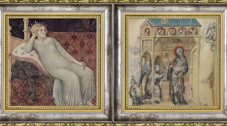 Ambrogio Lorenzetti Allegory of Good Government 1338/Jean Pucelle Hours of Jeanne d'Evreux c. 1320-1350