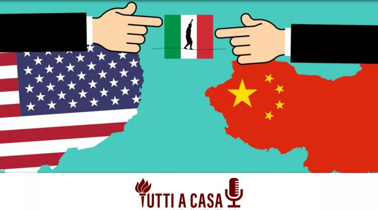 image of Italy between USA and China