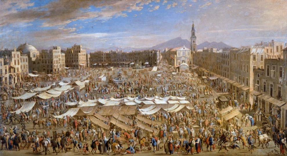 'The Market Place in Naples' by Domenico Gargiulo (c.1609-1610 – c.1675)