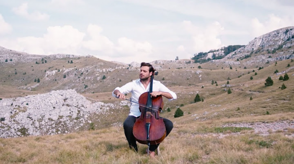 Hauser performing the theme from Once Upon A Time in the West by Ennio Morricone  Source: https://www.youtube.com/watch?v=C9nyBb7fKWg