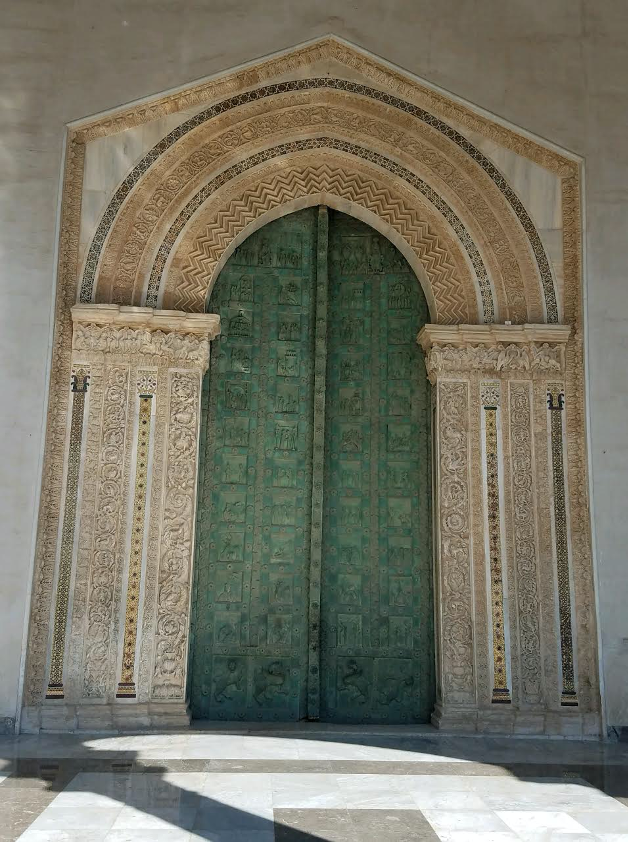 photo of the portal of the Monreale cathedral