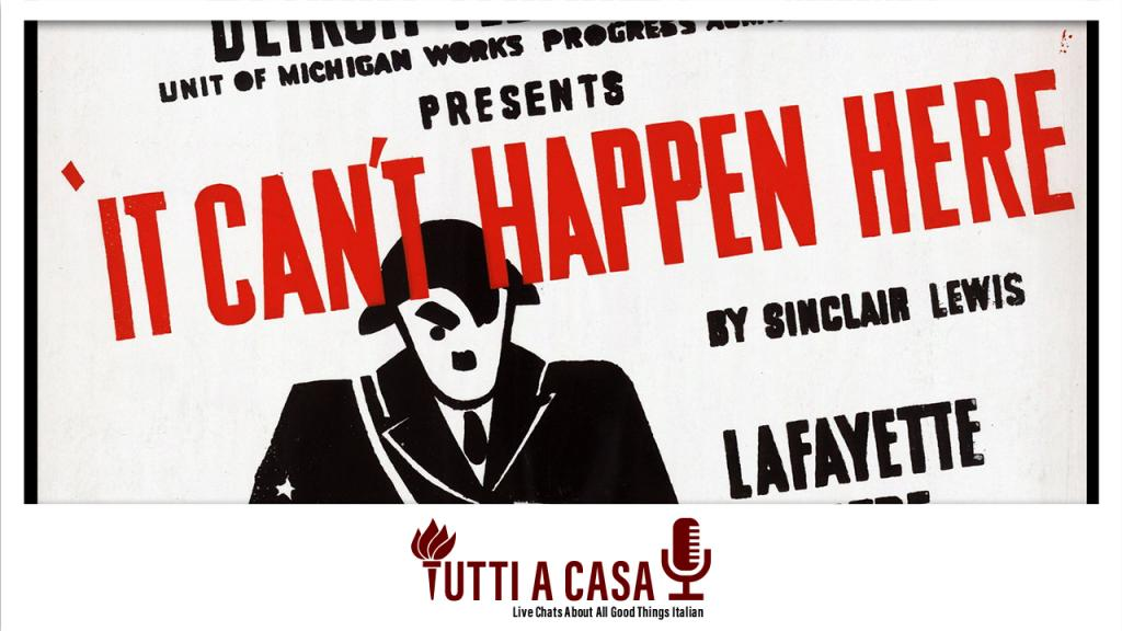 It Can't Happen Here poster TaC
